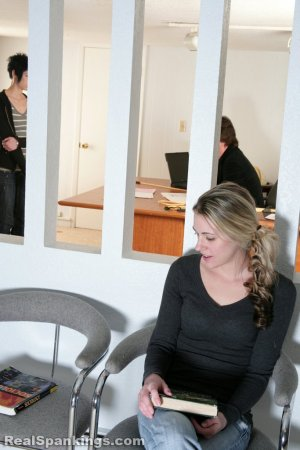 Real Spankings - Lila And Monica Caned By The Principal (part 2 Of 2) - image 9