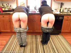 Real Spankings - Monica And Lila Paddled For A Messy Kitchen (part 2 Of 2) - image 6