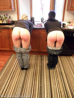 Real Spankings - Monica And Lila Paddled For A Messy Kitchen (part 2 Of 2) - image 3