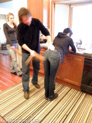 Real Spankings - Monica And Lila Paddled For A Messy Kitchen (part 2 Of 2) - image 2