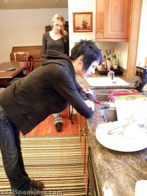 Real Spankings - Monica And Lila Paddled For A Messy Kitchen (part 2 Of 2) - image 10