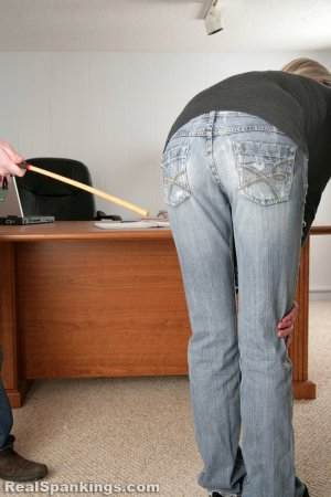 Real Spankings - Lila And Monica Caned By The Principal (part 1 Of 2) - image 6