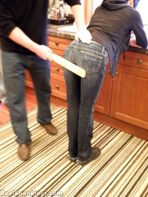 Real Spankings - Monica And Lila Paddled For A Messy Kitchen (part 2 Of 2) - image 4