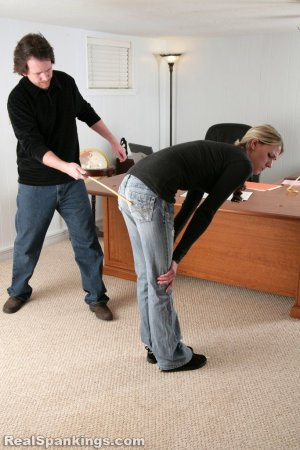 Real Spankings - Lila And Monica Caned By The Principal (part 1 Of 2) - image 9