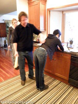 Real Spankings - Monica And Lila Paddled For A Messy Kitchen (part 2 Of 2) - image 11