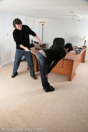 Real Spankings - Lila And Monica Caned By The Principal (part 2 Of 2) - image 1