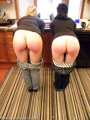 Real Spankings - Monica And Lila Paddled For A Messy Kitchen (part 2 Of 2) - image 13
