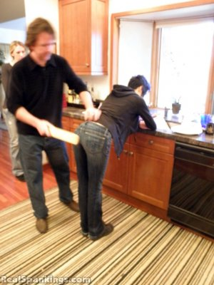 Real Spankings - Monica And Lila Paddled For A Messy Kitchen (part 2 Of 2) - image 5