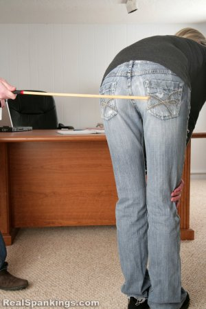 Real Spankings - Lila And Monica Caned By The Principal (part 1 Of 2) - image 8