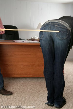 Real Spankings - Lila And Monica Caned By The Principal (part 2 Of 2) - image 8