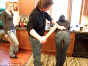 Real Spankings - Monica And Lila Paddled For A Messy Kitchen (part 2 Of 2) - image 14