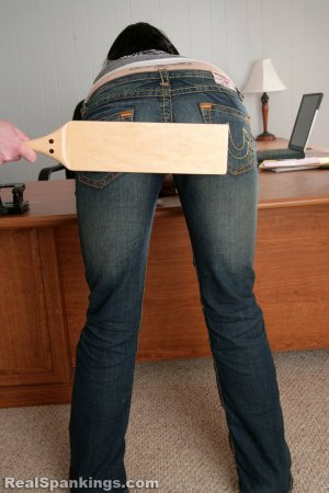 Real Spankings - Jade Is Paddled For Excessive Tardies - image 2