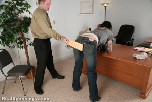 Real Spankings - Jade Is Paddled For Excessive Tardies - image 3