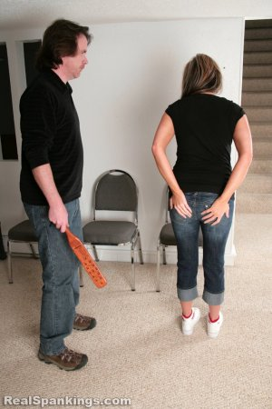Real Spankings - Riley Paddled - image 8