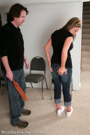 Real Spankings - Riley Paddled - image 9