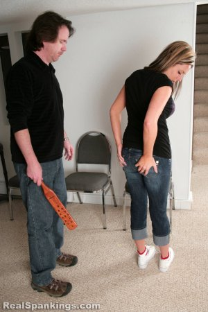 Real Spankings - Riley Paddled - image 1