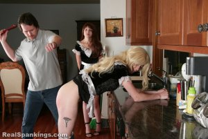 Real Spankings - Two Maids Punished (part 1 Of 2) - image 13