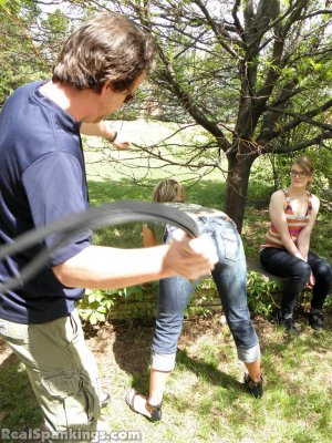 Real Spankings - Ivy And Riley Spanked With The Belt (part 2 Of 2) - image 16