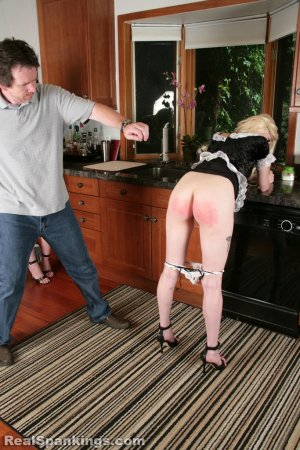 Real Spankings - Two Maids Punished (part 1 Of 2) - image 12