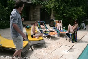 Real Spankings - Roxie And Friends Caught Smoking And Sunbathing Topless - image 14