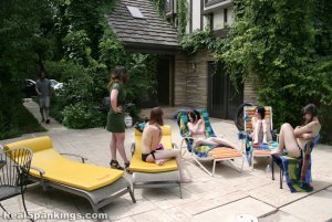 Real Spankings - Roxie And Friends Caught Smoking And Sunbathing Topless - image 12