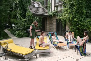 Real Spankings - Roxie And Friends Caught Smoking And Sunbathing Topless - image 18
