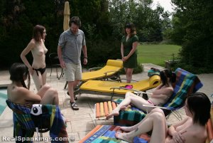 Real Spankings - Roxie And Friends Caught Smoking And Sunbathing Topless - image 13