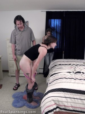 Real Spankings - Allison Punished In Front Of Roxie - image 9