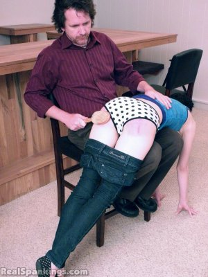 Real Spankings - Lila Punished With The Hairbrush - image 3