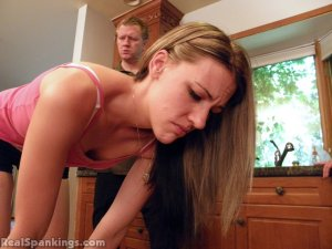 Real Spankings - Monica Spanked With The Belt - image 5