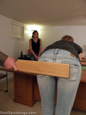 Real Spankings - Monica And Roxie Paddled (part 1 Of 2) - image 2