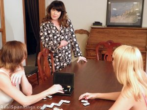 Real Spankings - Abigail And Allison Spanked With The Hairbrush (part 1 Of 2) - image 7