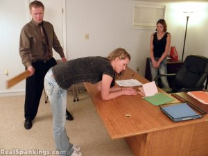 Real Spankings - Monica And Roxie Paddled (part 1 Of 2) - image 9