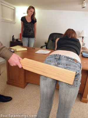 Real Spankings - Monica And Roxie Paddled (part 2 Of 2) - image 1
