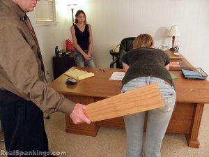 Real Spankings - Monica And Roxie Paddled (part 1 Of 2) - image 14