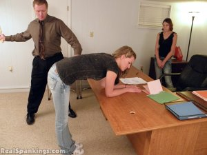 Real Spankings - Monica And Roxie Paddled (part 1 Of 2) - image 11