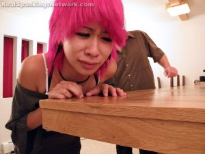 Real Spankings - Kik Punished With The Belt - image 1