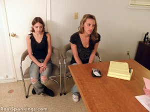 Real Spankings - Monica And Roxie Paddled (part 1 Of 2) - image 10