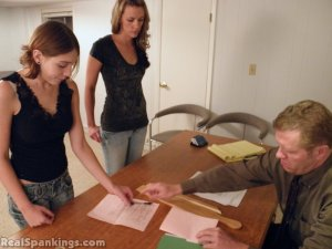 Real Spankings - Monica And Roxie Paddled (part 2 Of 2) - image 8