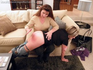 Real Spankings - Riley Spanked For Coming Home Late With A Bad Attitude (part 1 Of 2) - image 7