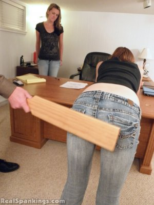 Real Spankings - Monica And Roxie Paddled (part 2 Of 2) - image 15