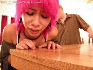 Real Spankings - Kik Punished With The Belt - image 10