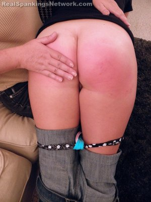 Real Spankings - Riley Spanked For Coming Home Late With A Bad Attitude (part 1 Of 2) - image 3