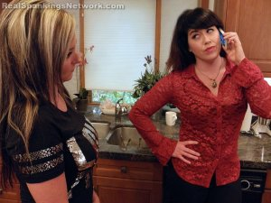 Real Spankings - Riley Spanked For Rudeness (part 1 Of 2) - image 11