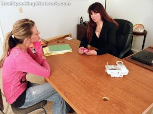 Real Spankings - Monica Caught Sexting In Class - image 1