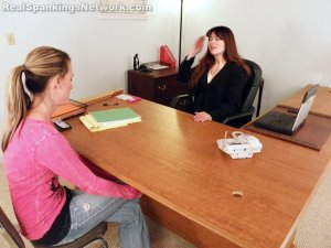 Real Spankings - Monica Caught Sexting In Class - image 5
