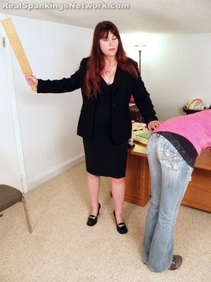 Real Spankings - Monica Caught Sexting In Class - image 6