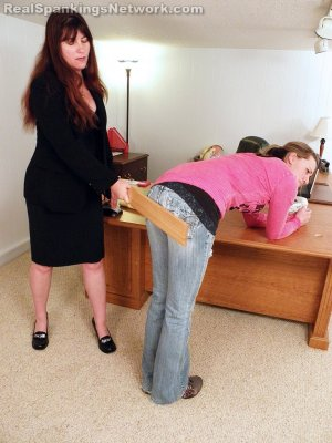 Real Spankings - Monica Caught Sexting In Class - image 2