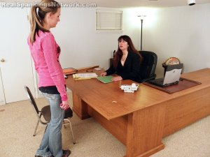 Real Spankings - Monica Caught Sexting In Class - image 12