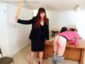 Real Spankings - Monica Caught Sexting In Class - image 13